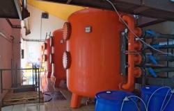 Písková filtrace velkých objemů vody